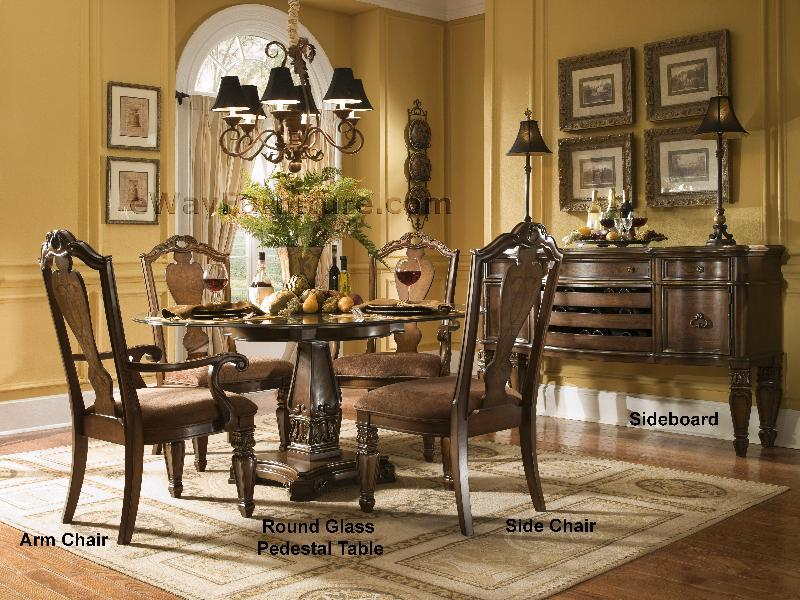 Versailles 60 Quot Round Glass Top Dining Set