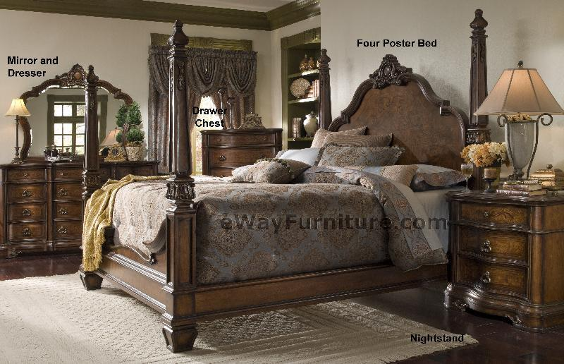four poster bedroom sets versailles four poster bedroom set 15274