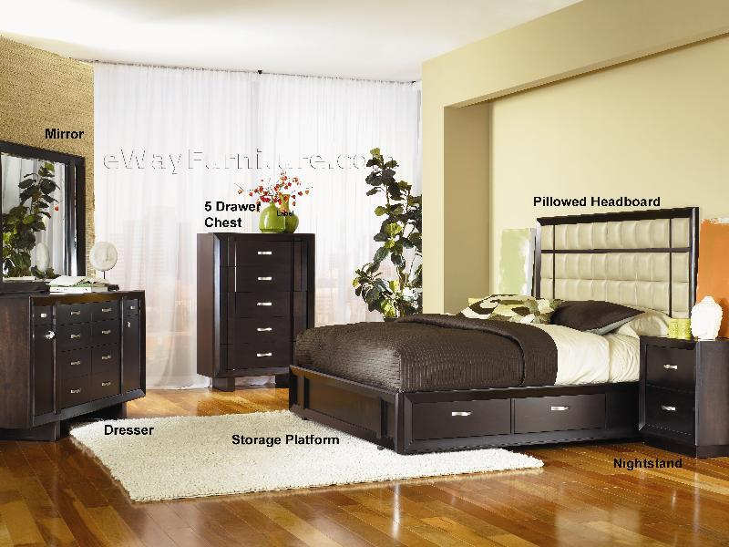 Urban Chic Platform Storage Bedroom Set