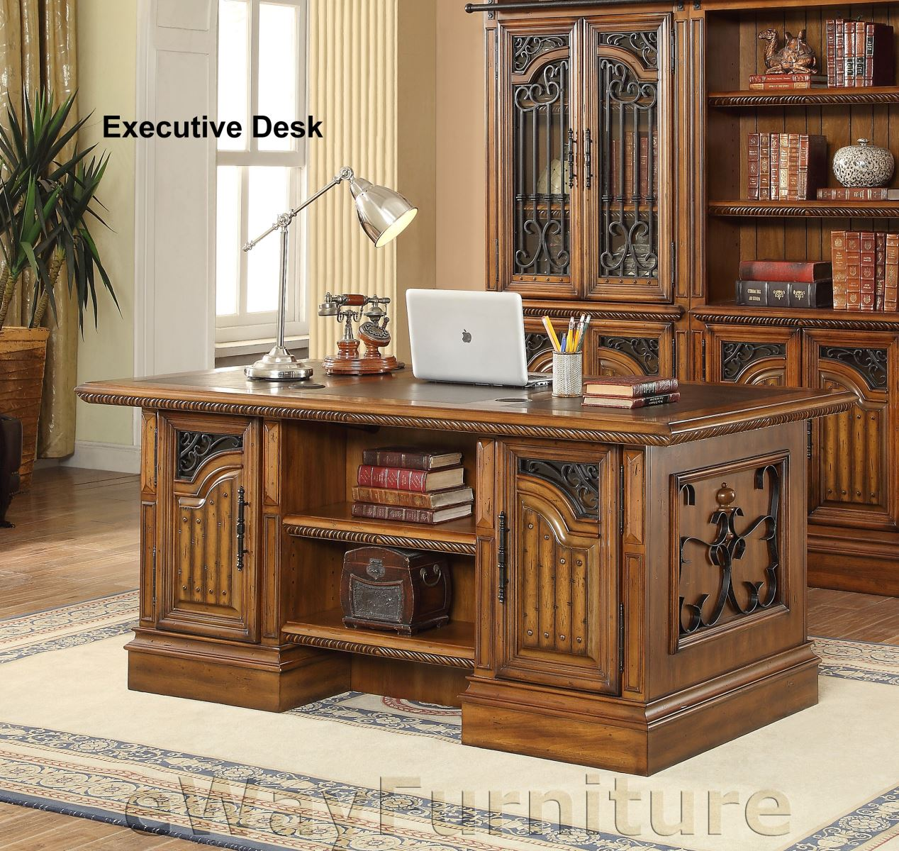 Hom Office Furniture: Parker House Barcelona Double Pedestal Executive Home