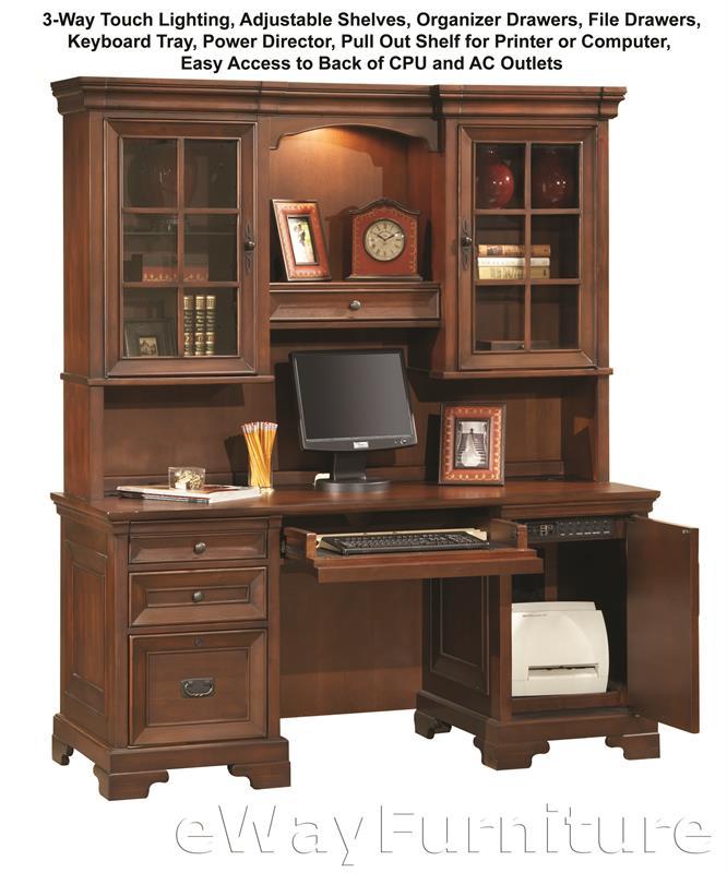 Aspenhome Warm Cherry Executive Modular Home Office