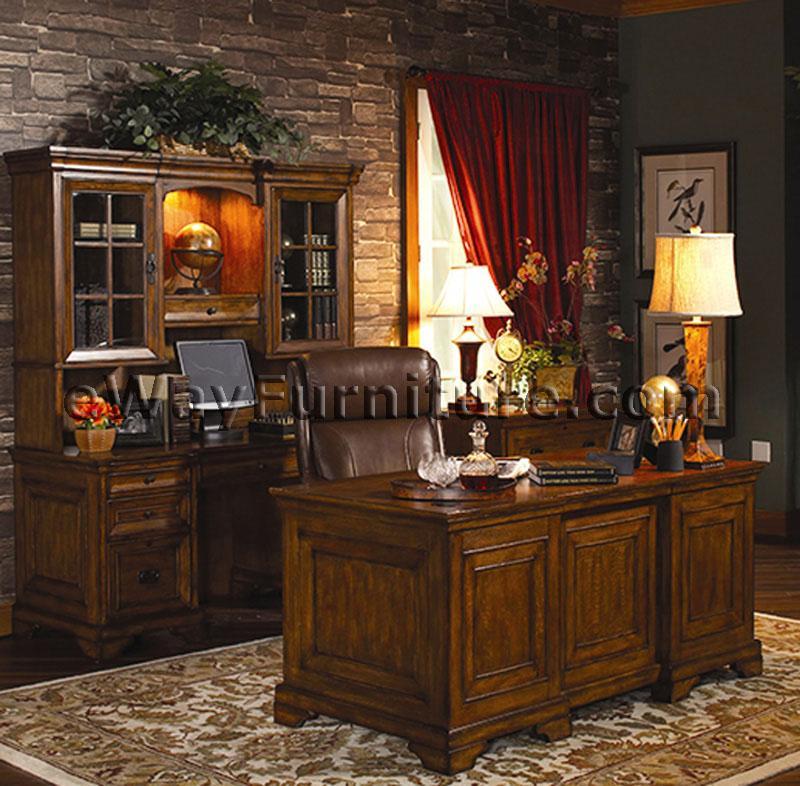 rustic americana hardwood executive desk home office