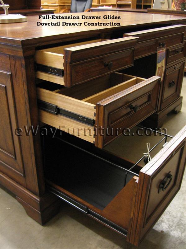 Aspenhome Warm Cherry Executive Modular Home Office: Aspenhome Centennial Executive Desk