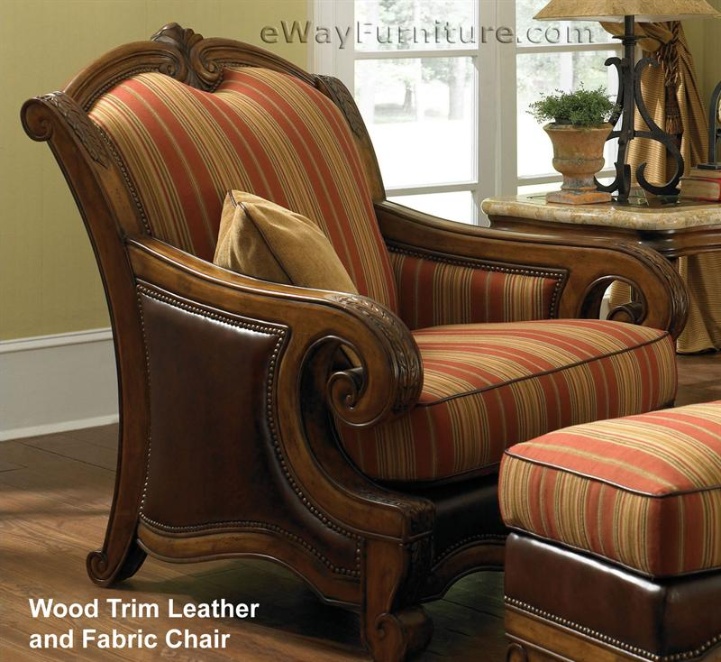 Awe Inspiring Leather And Fabric Chair Evergreenethics Interior Chair Design Evergreenethicsorg