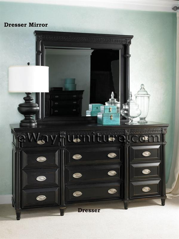 American federal black sleigh bed for Furniture federal way