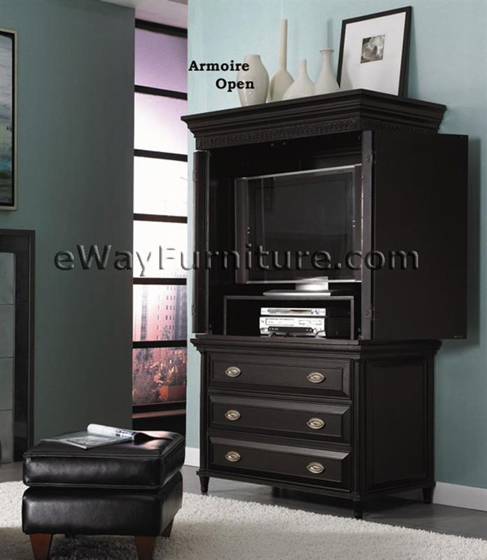 Aspenhome young classics black poster bedroom set for All black bedroom furniture