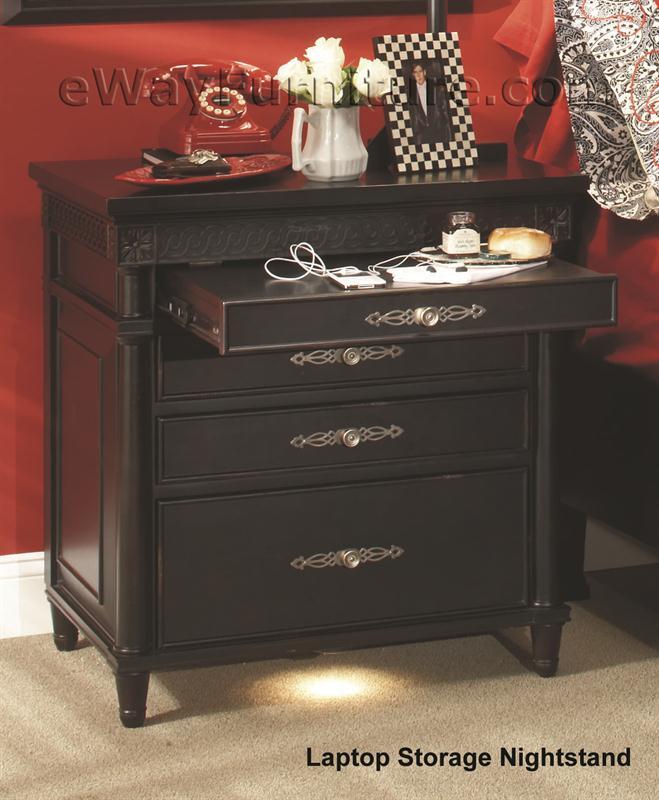 laptop storage nightstand as88 lsn. Black Bedroom Furniture Sets. Home Design Ideas