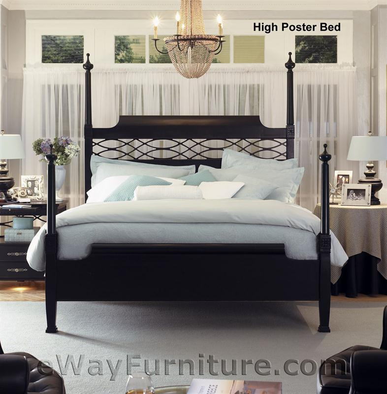 American Federal Black Poster Bed