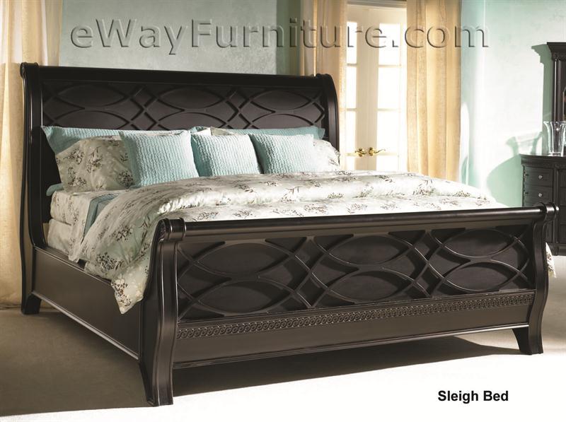 American federal black sleigh bedroom set for Furniture federal way