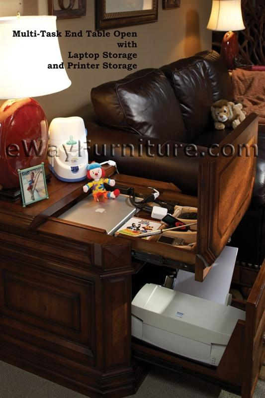 Home Office In Living Room Storage
