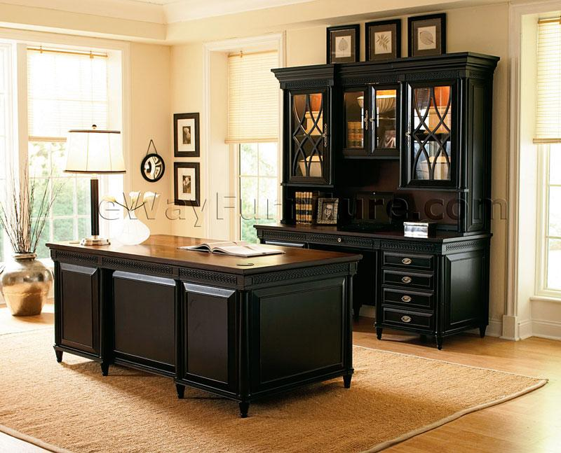 American Federal Black Executive Desk