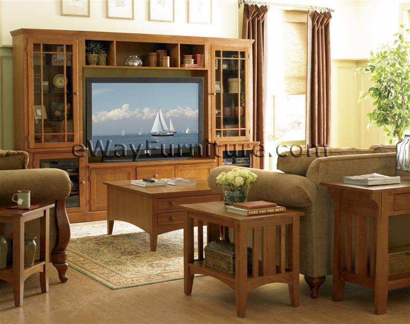 Aspenhome Warm Cherry Executive Modular Home Office: Solid Cherry Entertainment Center