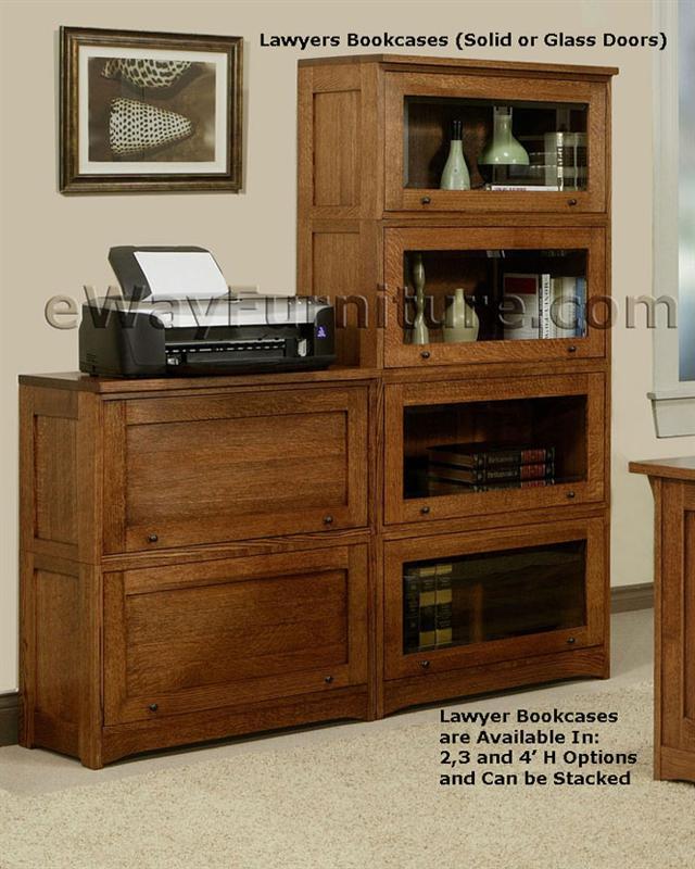 Executive Desk Light Oak: 100% Solid Oak Wood Mission Home Office Executive Desk