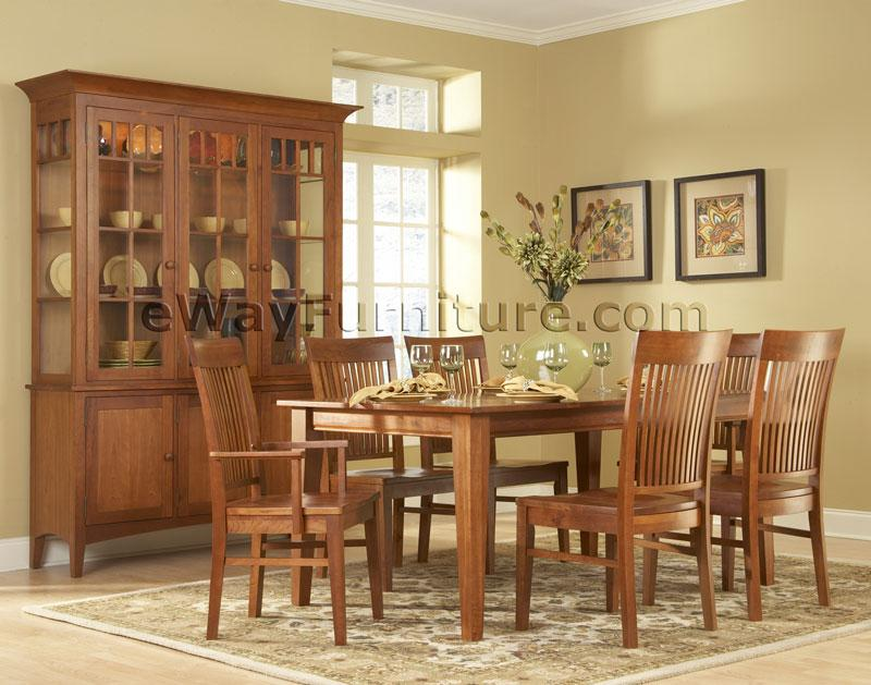 Solid cherry dining room set for Cherry dining room set