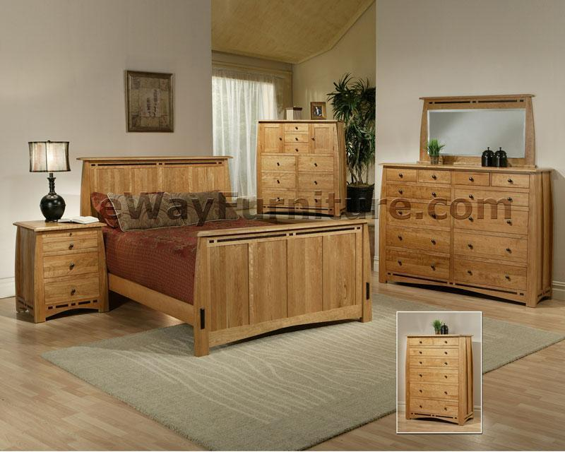 100 Solid Cherry Bedroom Set With Wenge Wood Inlay