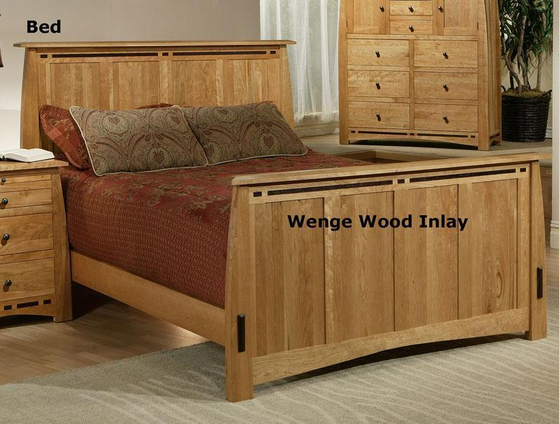 100 Solid Cherry Bed With Wenge Wood Inlay