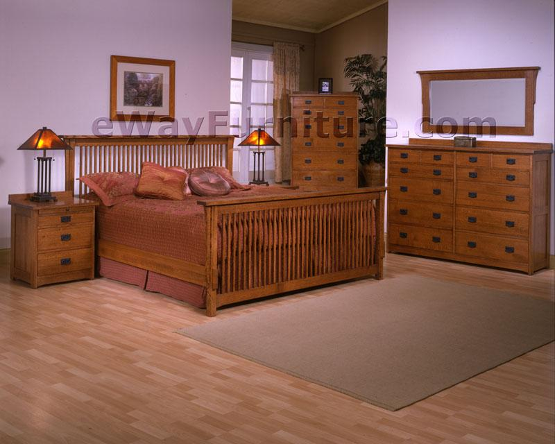 100% Solid Rift & Quarter Sawn Oak Mission Queen Bed American Made Furniture | EBay