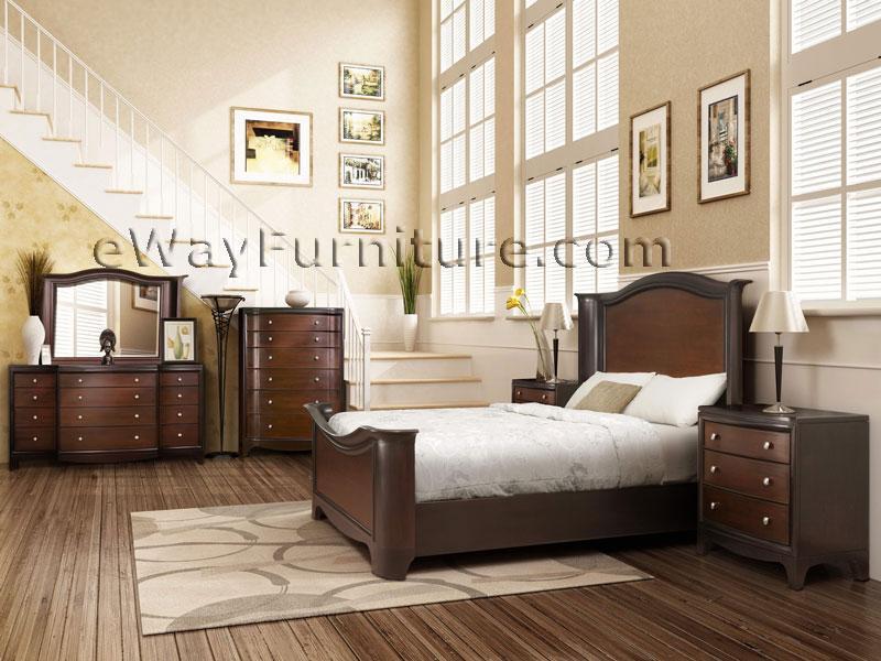 Solid Mahogany Wrap Bedroom Set