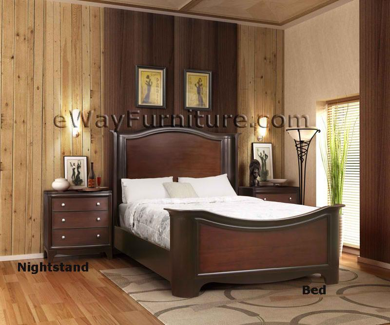 Solid mahogany bedroom set