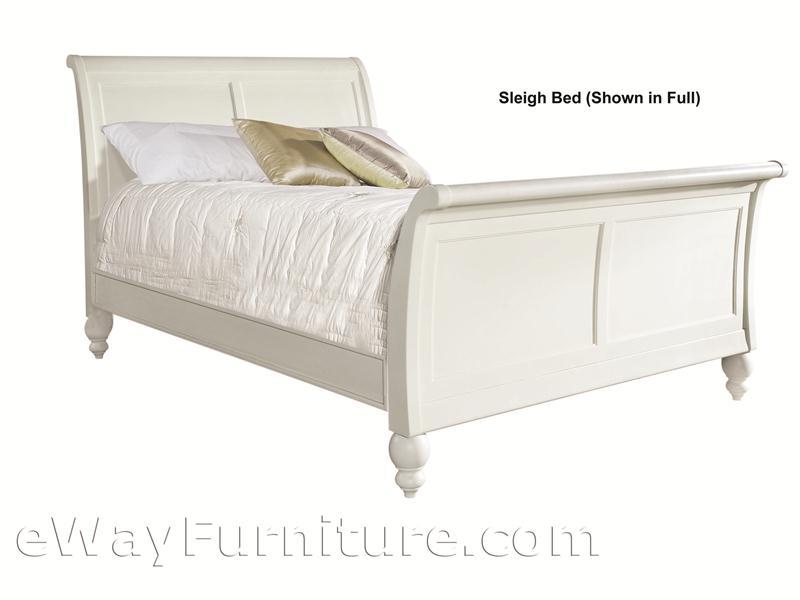 romantic simplicity white full sleigh bedroom set
