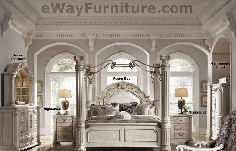 Silver Pearl Four Poster Bedroom Set with Iron Canopy. Four Poster Bedroom Sets. Home Design Ideas