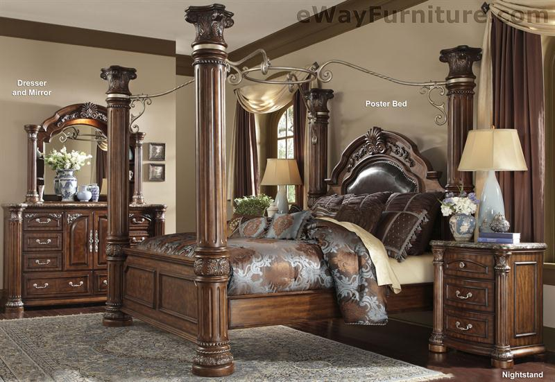 Cafe Noir Four Poster Bedroom Set with Iron Canopy. Four Poster Bedroom Sets. Home Design Ideas
