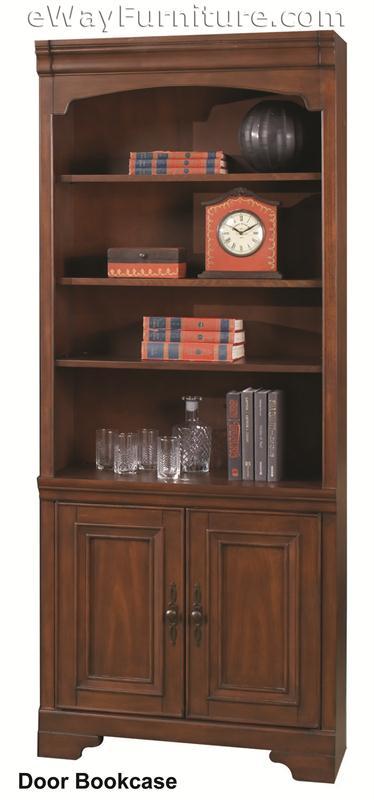 Warm Cherry Executive Desk Home Office Collection: Warm Cherry Credenza And Hutch Home Office Collection
