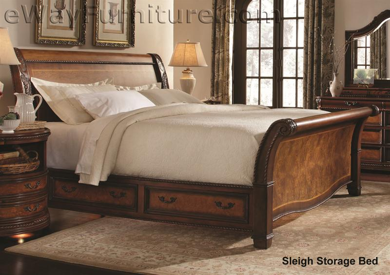 Vineyard Sleigh Storage Bedroom Set
