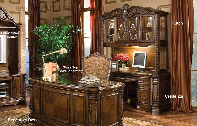 The Downing Street Executive Curio Desk: Avebury Manor Home Office Executive Desk
