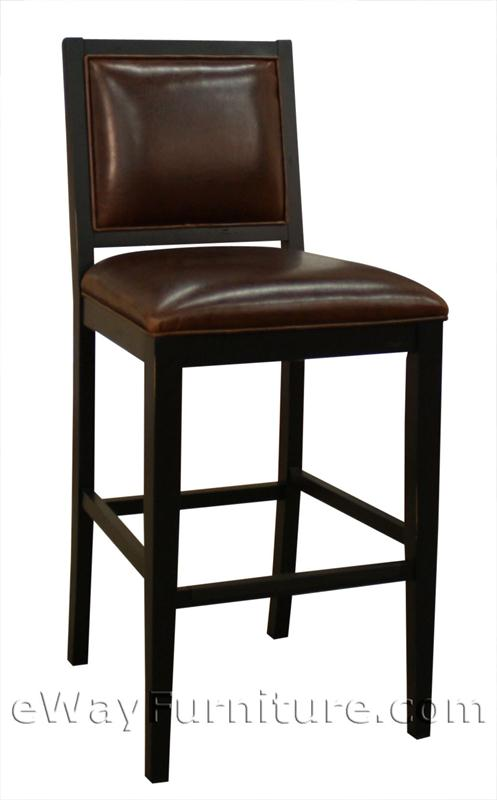 2 betheny brown bonded leather and black wood 24 counter height bar stools. Black Bedroom Furniture Sets. Home Design Ideas