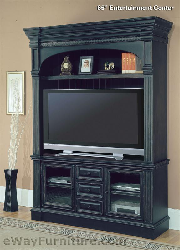 Parker House Venezia Vintage Black 65 Quot Tv Entertainment Center