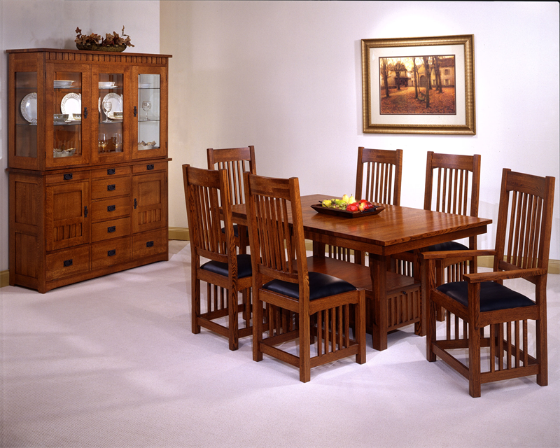 Usa made mission style oak dining room set - Mission style dining room furniture ...