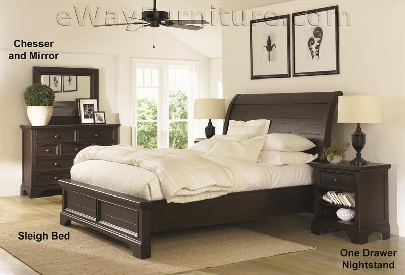 Aspenhome Bayfield Solid Wood Bed Bedroom Set
