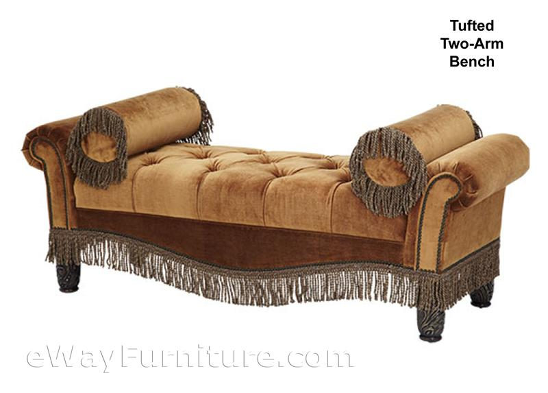 Tufted Two Arm Bench Ai76 Bb