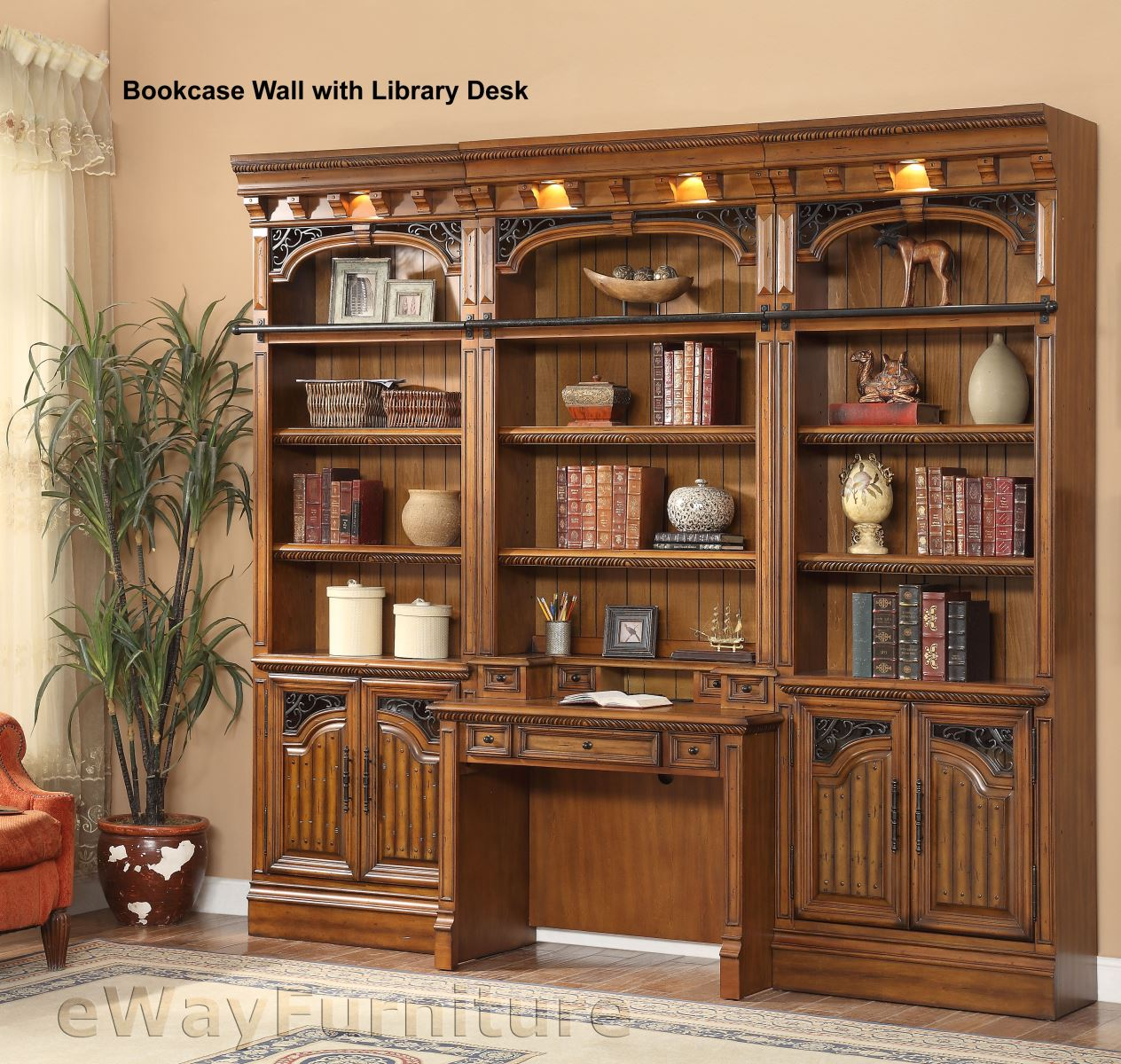 The Downing Street Executive Curio Desk: Parker House Barcelona Library Hutch And Desk