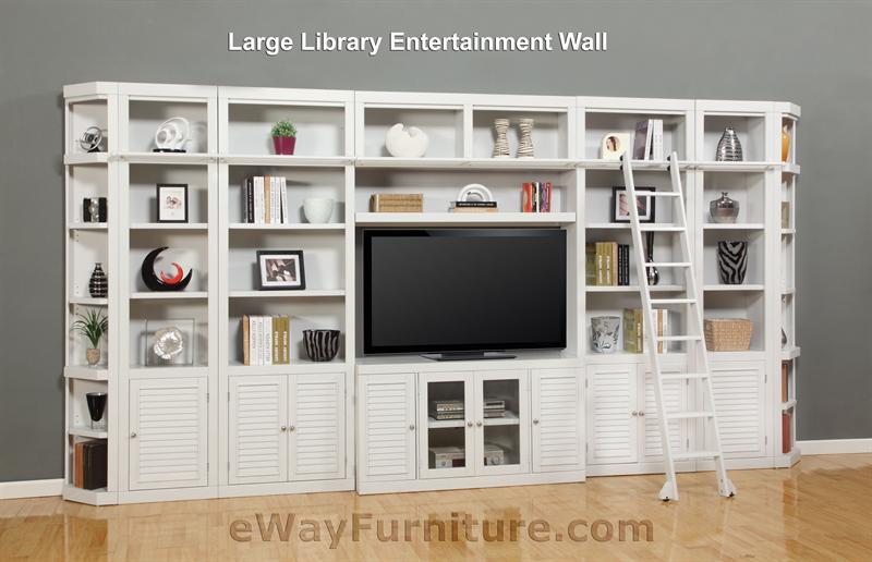 Parker House Modular Home Office Set Boca Ph Boc Mset: Parker House Boca Large Library Entertainment Wall