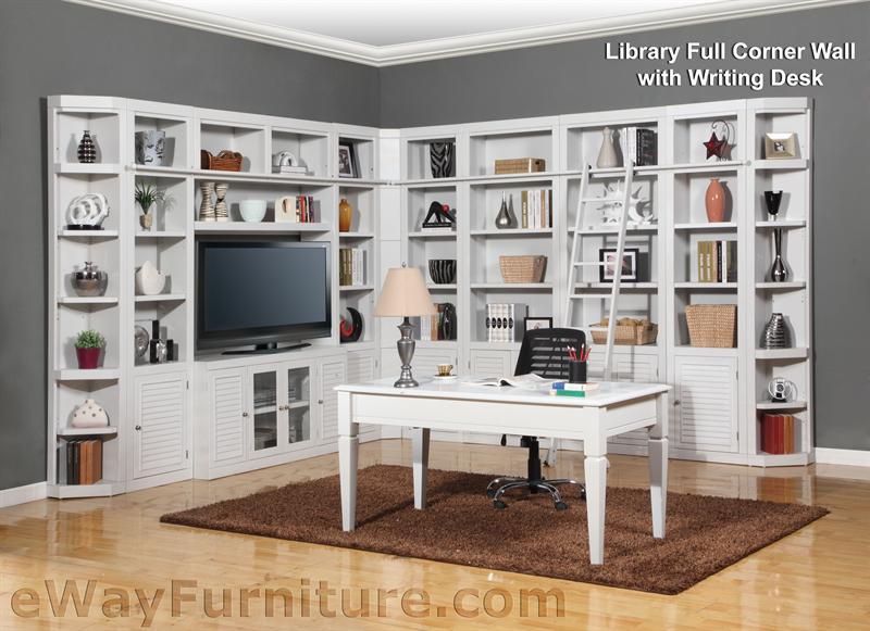 Parker House Modular Home Office Set Boca Ph Boc Mset: Parker House Boca Library Full Corner Wall With Writing Desk