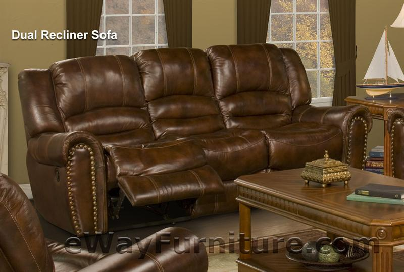 Parker Living Neptune Leather Dual Recliner Sofa
