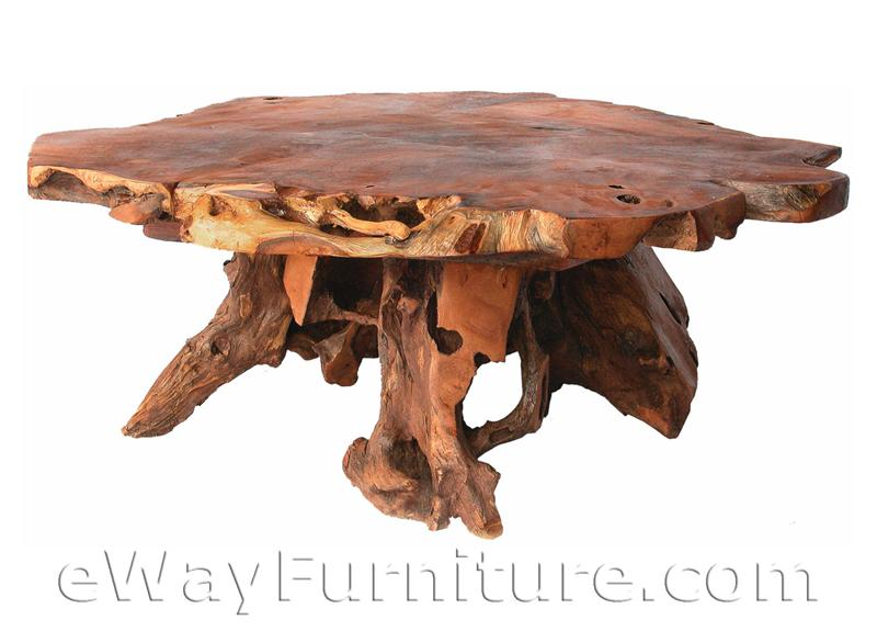 Bighorn Root Teak Wood Cocktail Table