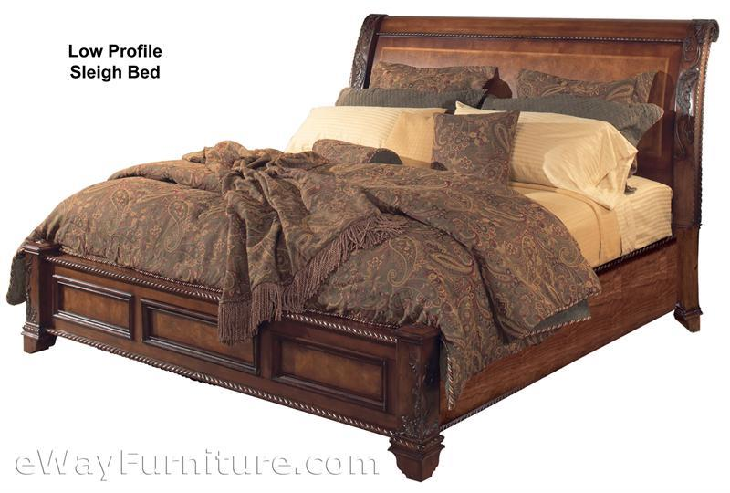 Vineyard Sleigh Low Profile Bed Bedroom Set
