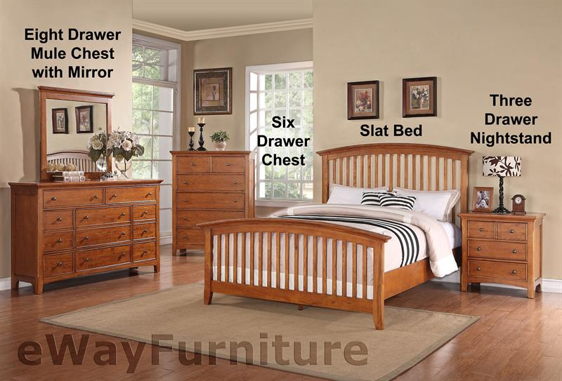American Shaker Style Bedroom Furniture Set | Solid Cherry Wood ...