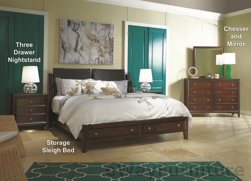 Millennium Storage Sleigh Bed Bedroom Set