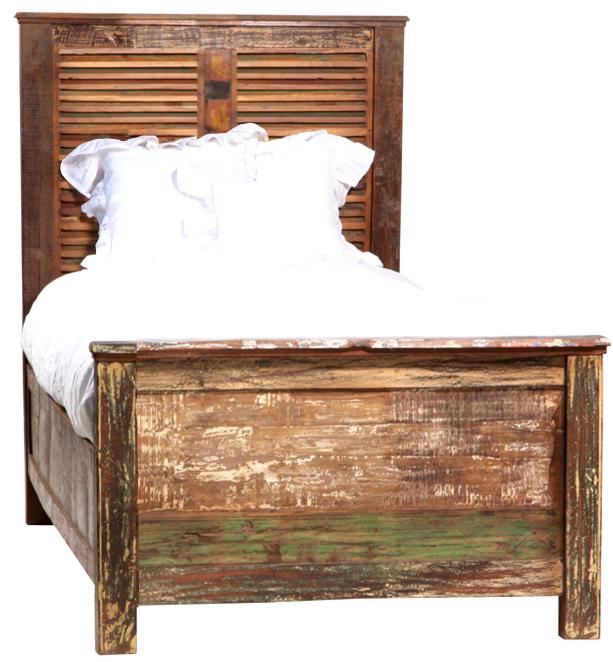 nantucket twin louvered panel bed bedroom set