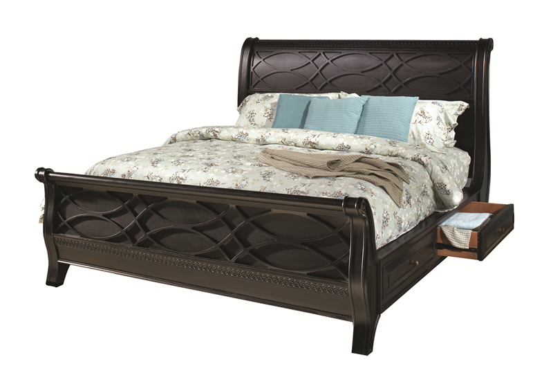 American federal sleigh storage bed bedroom set for Furniture federal way