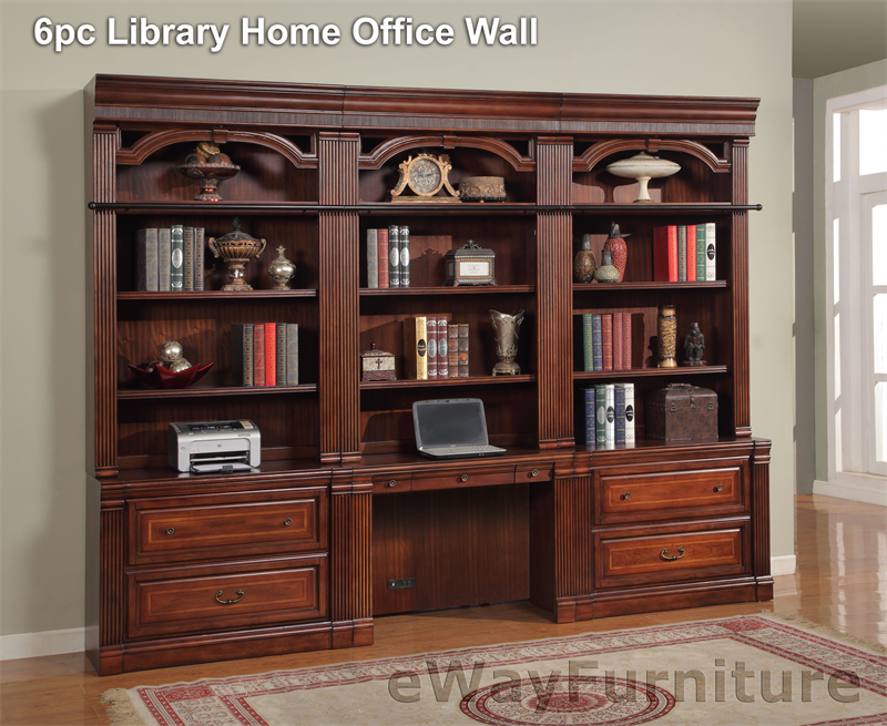 Parker House Wellington 6pc Library Home Office Wall
