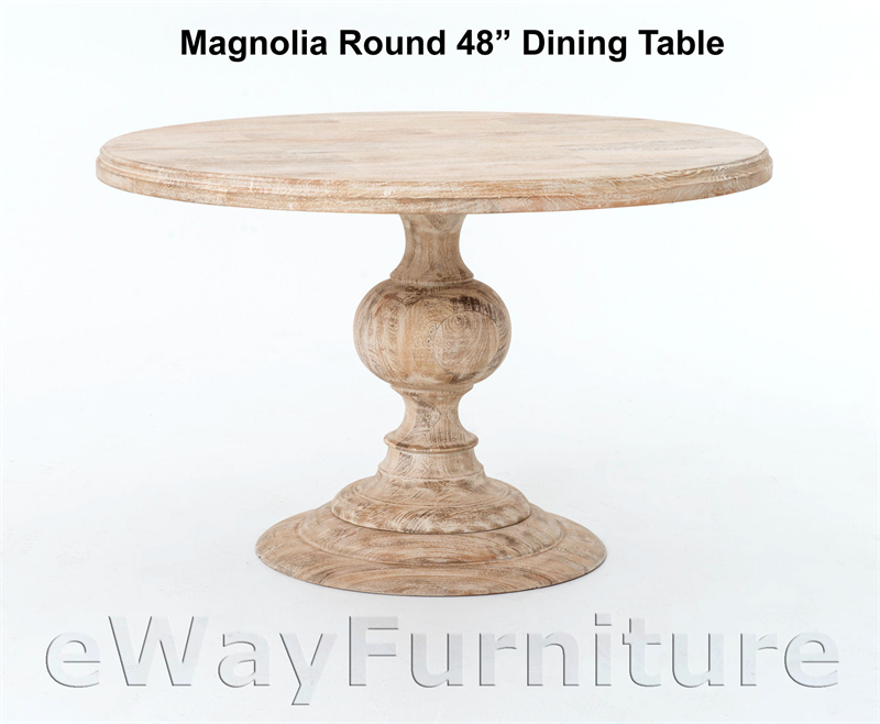 Magnolia Round 48 Inch Dining Table