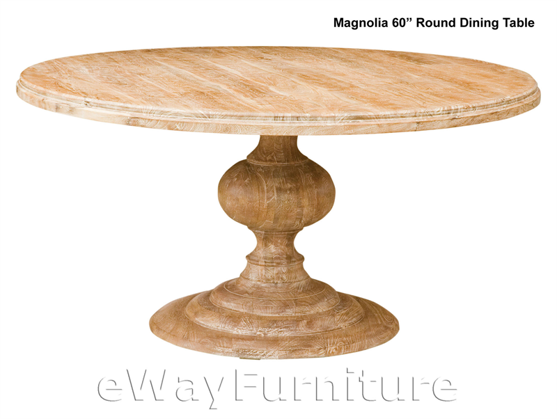 magnolia round 60 inch dining table. Black Bedroom Furniture Sets. Home Design Ideas