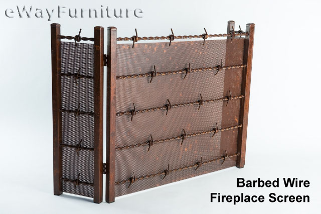 Barbed Wire Fireplace Screen