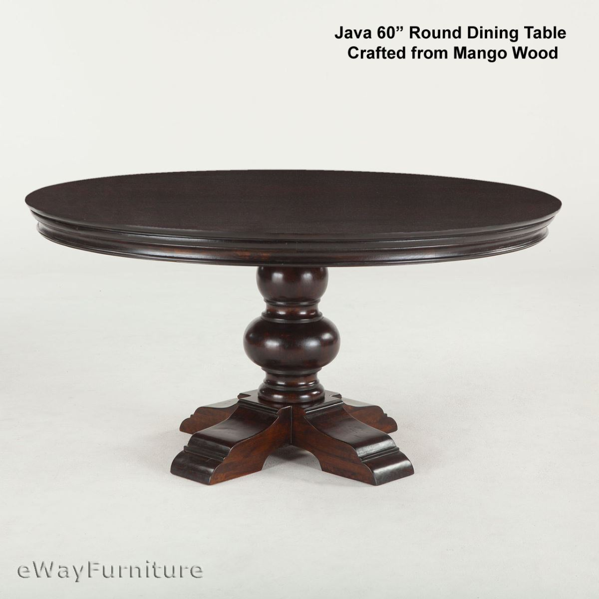 Java round dining table 60 inch for 60 inch round dining table