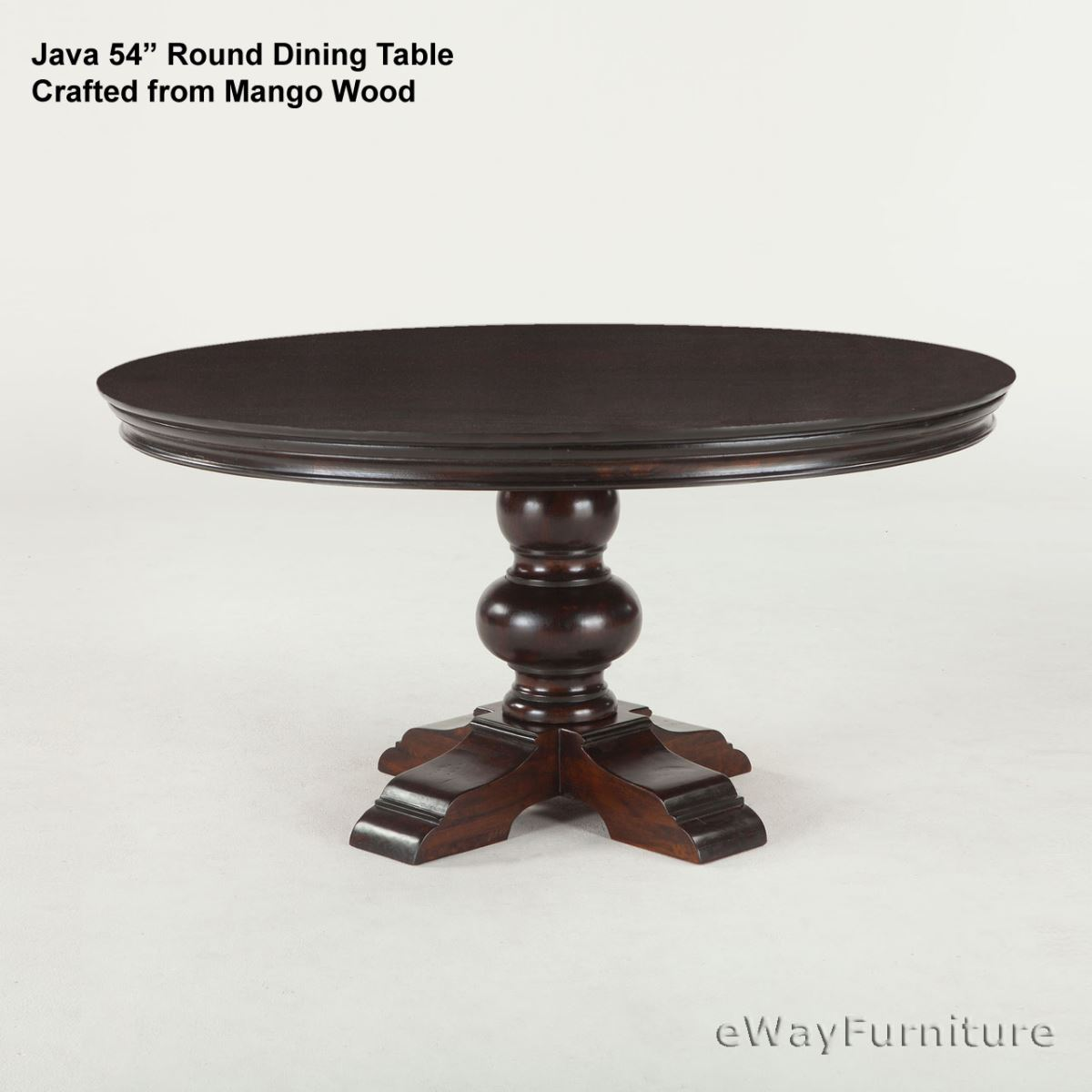 java round dining table 54 inch. Black Bedroom Furniture Sets. Home Design Ideas